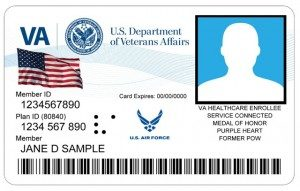 An example of a Veterans Identification card