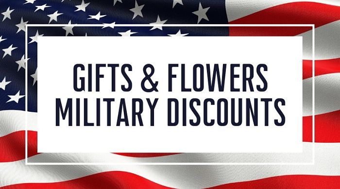 Gifts and Flowers Military Discounts