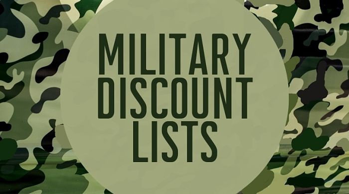 Military Discount List of Lists